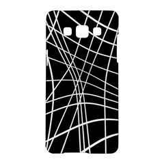 Black And White Elegant Lines Samsung Galaxy A5 Hardshell Case  by Valentinaart