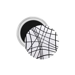 Black And White Decorative Lines 1 75  Magnets by Valentinaart