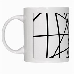 Black And White Decorative Lines White Mugs by Valentinaart