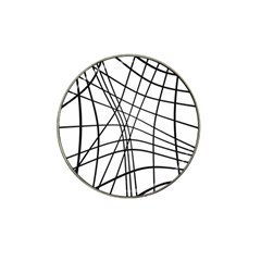 Black And White Decorative Lines Hat Clip Ball Marker by Valentinaart