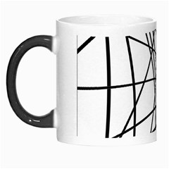 Black And White Decorative Lines Morph Mugs by Valentinaart