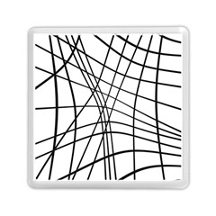 Black And White Decorative Lines Memory Card Reader (square)  by Valentinaart