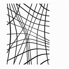 Black And White Decorative Lines Large Garden Flag (two Sides) by Valentinaart