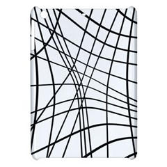 Black And White Decorative Lines Apple Ipad Mini Hardshell Case by Valentinaart