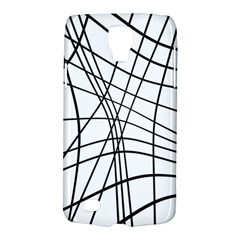 Black And White Decorative Lines Galaxy S4 Active by Valentinaart