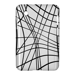 Black And White Decorative Lines Samsung Galaxy Tab 2 (7 ) P3100 Hardshell Case  by Valentinaart