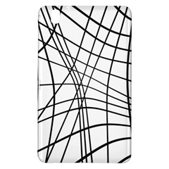 Black And White Decorative Lines Samsung Galaxy Tab Pro 8 4 Hardshell Case by Valentinaart