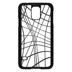 Black And White Decorative Lines Samsung Galaxy S5 Case (black) by Valentinaart