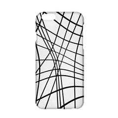 Black And White Decorative Lines Apple Iphone 6/6s Hardshell Case by Valentinaart