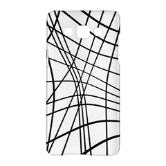 Black And White Decorative Lines Samsung Galaxy A5 Hardshell Case  by Valentinaart