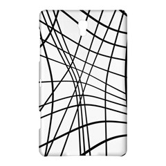 Black And White Decorative Lines Samsung Galaxy Tab S (8 4 ) Hardshell Case  by Valentinaart