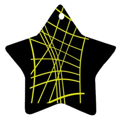 Yellow Abstraction Ornament (star)  by Valentinaart