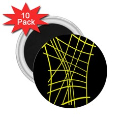 Yellow Abstraction 2 25  Magnets (10 Pack)