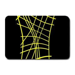 Yellow Abstraction Plate Mats by Valentinaart