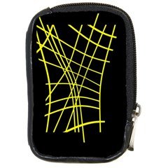 Yellow Abstraction Compact Camera Cases by Valentinaart