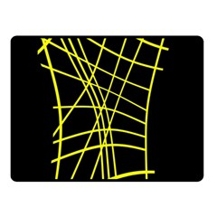 Yellow Abstraction Fleece Blanket (small) by Valentinaart