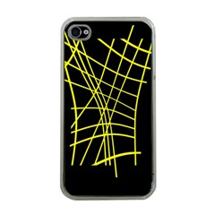 Yellow Abstraction Apple Iphone 4 Case (clear) by Valentinaart