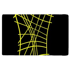 Yellow Abstraction Apple Ipad 3/4 Flip Case by Valentinaart