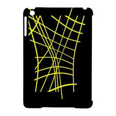 Yellow Abstraction Apple Ipad Mini Hardshell Case (compatible With Smart Cover) by Valentinaart