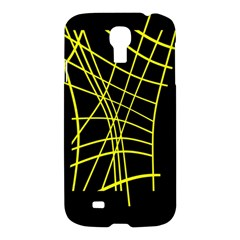 Yellow Abstraction Samsung Galaxy S4 I9500/i9505 Hardshell Case by Valentinaart