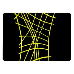 Yellow Abstraction Samsung Galaxy Tab 10 1  P7500 Flip Case by Valentinaart