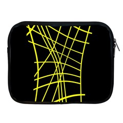 Yellow Abstraction Apple Ipad 2/3/4 Zipper Cases