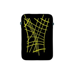 Yellow Abstraction Apple Ipad Mini Protective Soft Cases by Valentinaart