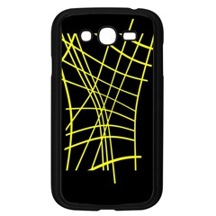 Yellow Abstraction Samsung Galaxy Grand Duos I9082 Case (black) by Valentinaart