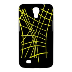 Yellow Abstraction Samsung Galaxy Mega 6 3  I9200 Hardshell Case by Valentinaart