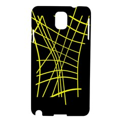 Yellow Abstraction Samsung Galaxy Note 3 N9005 Hardshell Case by Valentinaart