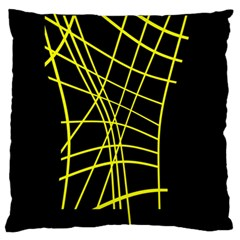 Yellow Abstraction Standard Flano Cushion Case (one Side) by Valentinaart