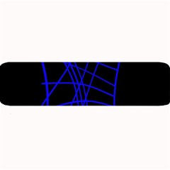 Neon Blue Abstraction Large Bar Mats by Valentinaart