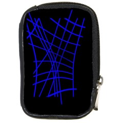 Neon Blue Abstraction Compact Camera Cases by Valentinaart