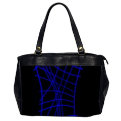 Neon Blue Abstraction Office Handbags by Valentinaart