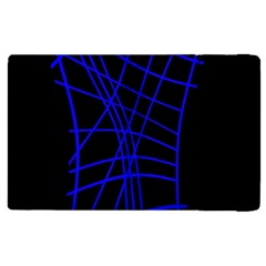 Neon Blue Abstraction Apple Ipad 2 Flip Case by Valentinaart