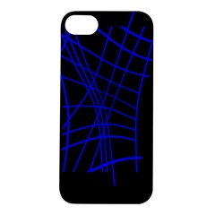 Neon Blue Abstraction Apple Iphone 5s/ Se Hardshell Case by Valentinaart