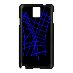Neon Blue Abstraction Samsung Galaxy Note 3 N9005 Case (black) by Valentinaart
