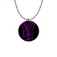 Neon Purple Abstraction Button Necklaces by Valentinaart