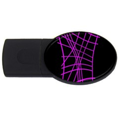 Neon Purple Abstraction Usb Flash Drive Oval (4 Gb)  by Valentinaart