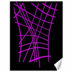 Neon Purple Abstraction Canvas 36  X 48   by Valentinaart