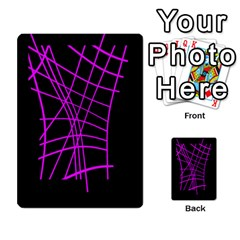 Neon Purple Abstraction Multi Purpose Cards (rectangle)  by Valentinaart