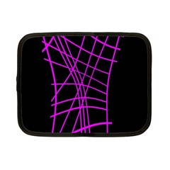 Neon Purple Abstraction Netbook Case (small)  by Valentinaart