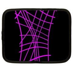 Neon Purple Abstraction Netbook Case (large) by Valentinaart
