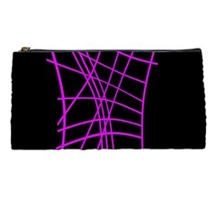 Neon Purple Abstraction Pencil Cases by Valentinaart