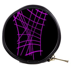 Neon Purple Abstraction Mini Makeup Bags by Valentinaart