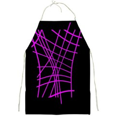 Neon Purple Abstraction Full Print Aprons by Valentinaart