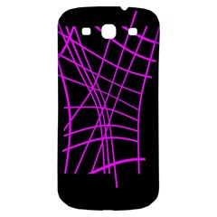 Neon Purple Abstraction Samsung Galaxy S3 S Iii Classic Hardshell Back Case by Valentinaart