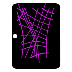 Neon Purple Abstraction Samsung Galaxy Tab 3 (10 1 ) P5200 Hardshell Case  by Valentinaart