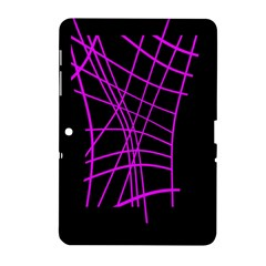 Neon Purple Abstraction Samsung Galaxy Tab 2 (10 1 ) P5100 Hardshell Case  by Valentinaart
