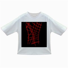 Neon Red Abstraction Infant/toddler T Shirts by Valentinaart